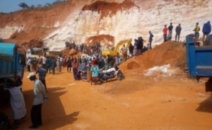 Kindia, Eboulement  de la Carrière de BOUSSOURA:  Bilan, 2 morts
